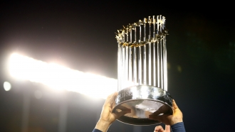 MLB World Series trophy