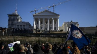 Gun rights advocates in Virginia rally near the state Capitol