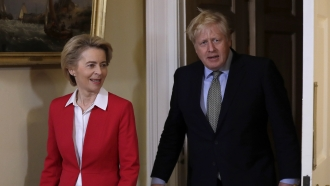 U.K. Prime Minister Boris Johnson and European Commission President Ursula Von Der Leyen