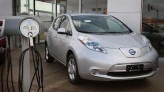 A plug-in electric Nissan