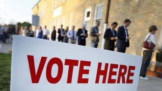 Voters line up