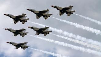 Air Force Thunderbird planes