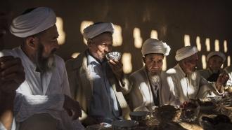 Uighur men