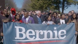 Bernie Sanders leads march to early voting location in North Carolina