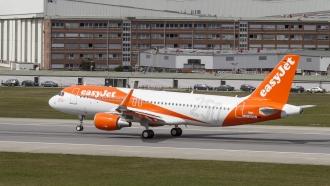 An EasyJet airplane