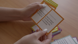 University of Chicago's Ci3 lab created a deck of cards with questions to help providers and patients navigate conversations