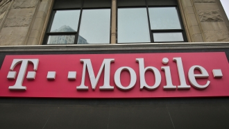 A T-Mobile store sign