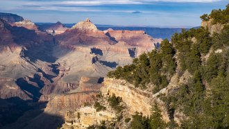 A view of the Grand Canyon National Park