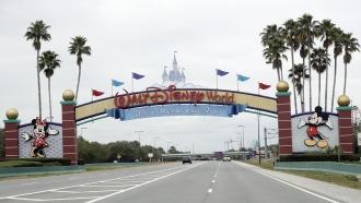 The entrance to Walt Disney World in Orlando, Florida