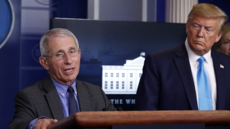Anthony Fauci with President Trump