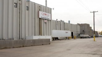 A JBS USA beef plant where workers went on strike due to lack of coronavirus protections