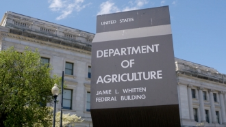 US Department of Agriculture sign and building