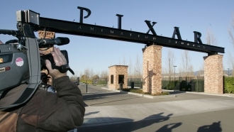 The front entrance of Pixar Animation Studios Inc. headquarters in Emeryville, Calif.