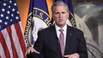 House Minority Leader Kevin McCarthy of Calif., speaks during a news conference on Capitol Hill