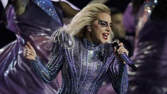 singer Lady Gaga performs during the halftime show of the NFL Super Bowl 51 football game