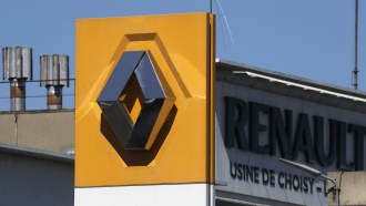 The Renault plant is pictured Friday, May 29, 2020 in Choisy-le-Roi, outside Paris.