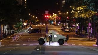 Military vehicle in Washington, D.C.
