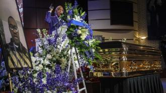 The Rev. Al Sharpton at George Floyd's memorial service