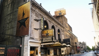 """Hamilton: An American Musical"" at the Richard Rodgers Theatre"