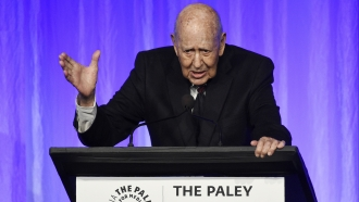 "Honoree Carl Reiner addresses the audience at ""The Paley Honors"