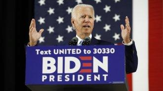 Joe Biden speaks in Wilmington, Del., on June 30, 2020.