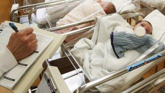 Newborn babies at the hospital
