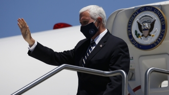 Mike Pence wearing a mask