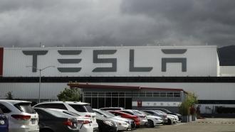 Tesla plant in Fremont, CA