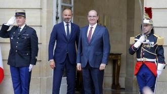 Édouard Philippe and Jean Castex