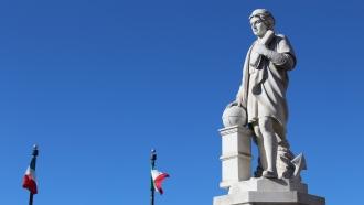 Christopher Columbus statue in Baltimore