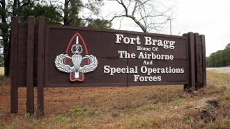 Fort Bragg sign