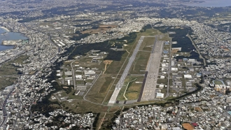 This is the U.S. Marine Air Station Futenma in Ginowan, Okinawa, southern Japan