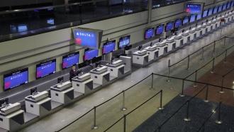 Delta Air Lines service desks