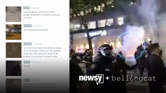 Newsy counted more than 50 uses of tear gas in 14 hours of livestream footage at Portland's protests.