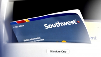 Southwest Airlines safety information pamphlet