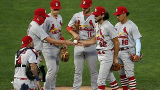 St. Louis Cardinals on the mound