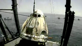 "SpaceX ""Capsule Endeavor"" lands in Gulf of Mexico"