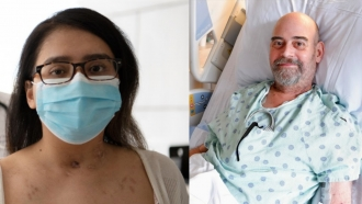 Mayra Ramirez and Brian Kuhns are both recovering from double lung transplants after COVID-19 complications.