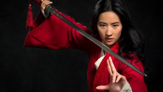 """A promotional image for Disney's """"Mulan"""""""