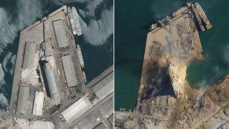 Satellite images, obtained by CNN from Planet Labs Inc.