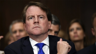 Former White House counsel Don McGahn
