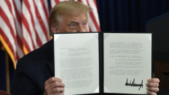 President Trump signs relief executive actions