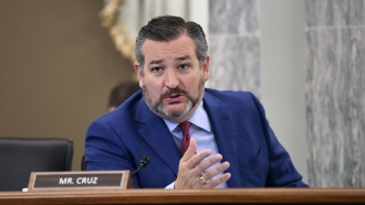 Sen. Ted Cruz asks a question during a committee hearing.
