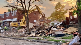 Scene of the Baltimore explosion