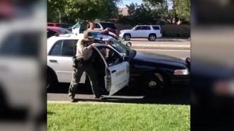Image from video of Santa Clarita, California, incident