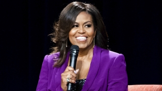 May 11, 2019 file photo of former first lady Michelle Obama