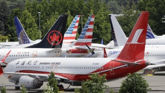 Boeing 737 Max planes parked