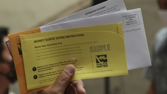 A sample mail-in ballot for Hawaii's primary election
