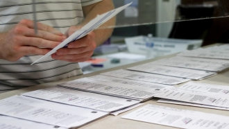 Processing work on mail in ballots for the Pennsylvania Primary election