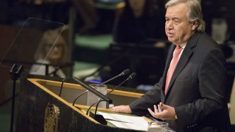 United Nations Secretary-General Antonio Guterres speaks during the 72nd session